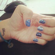 #heart's #dark #blue #light #blue #glitter #tattoo #love