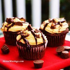 Menu Musings of a Modern American Mom: Reese's Peanut Butter Cup Cupcakes