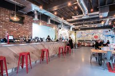 The Urban Tap House Newport is the second bar from Tiny Rebel Brewing Co. Opened on November 27th, 2015, the bar features up to 12 keg and 8 cask beers along with a menu of pizzas and pasta. Set over two levels, it is currently Newport's biggest craft beer bar.