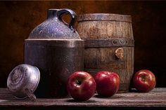 """Hard Cider Still Life"" still life photograph by Tom Mc Nemar"