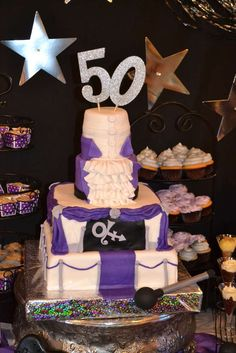 Purple Prince 50th birthday party! See more party ideas at CatchMyParty.com!