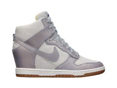 Nike Dunk Sky High Vintage Women's Shoe. Love the idea of wearing pretty sporty looking wedges.