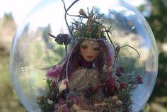 Captured Fairy in a Jar (globe)  OOAK
