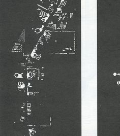 Crop of the Nolli Map of Vegas from Learning from Las Vegas Robert Venturi & Denise Scott Brown