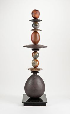 Woodfire Totem: Victoria Shaw: Ceramic Sculpture - Artful Home