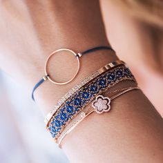Rosé & Blue – one of our favorite combinations ✨ - Gold Jewelry Cute Jewelry, Boho Jewelry, Jewelry Bracelets, Fashion Jewelry, Blue Bracelets, Dainty Jewelry, Indian Jewelry, Silver Jewelry, Handmade Jewelry