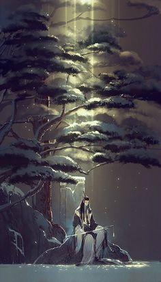 Kai Fine Art is an art website, shows painting and illustration works all over the world. Fantasy Landscape, Fantasy Art, Graphisches Design, Art Asiatique, Japanese Artwork, Art Japonais, Japan Art, Anime Scenery, Chinese Art