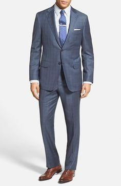 Men's Hickey Freeman 'Beacon' Classic Fit Plaid Suit