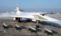 Russian Tupolev Tu-160 «Blackjack» strategic bomber, and cruise missile launch aircraft.