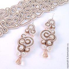 Soutache Earrings, Shibori, Beaded Embroidery, Jewelry Design, Brooch, Pearls, Knitting, Crochet, Handmade