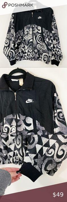 New NIKE sz S women's black vintage drawstring full front zip hoodie jacket