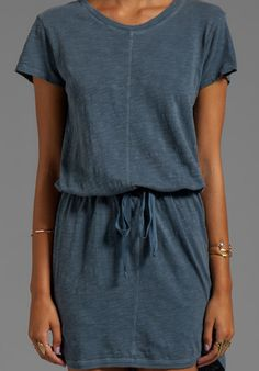 Slub Jersey Drawstring Dress by Wilt