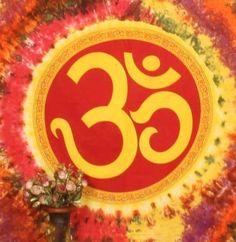 Om Spiritual Twin Tapestry