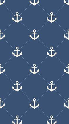 Anchor Anchor Wallpaper, Nautical Wallpaper, Emo Wallpaper, Smile Wallpaper, Pattern Wallpaper, Wallpaper Backgrounds, Iphone Wallpaper, Computer Wallpaper, Summer Wallpaper