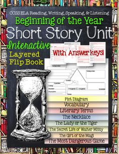 $ Short Story Unit: Interactive Layered Flip Book. Great for the Beginning of the Year! -The Most Dangerous Game -The Secret Life of Walter Mitty -The Gift of the Magi - The Lady or the Tiger -The Necklace ($)