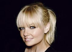 full fringe with blonde and dark eye make up. Not to mention it's baby spice...