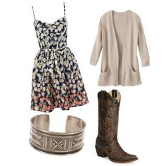 """cowboy boots and sun dresses 