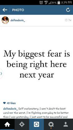 My biggest fear....