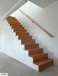 Custom built and designed home with solid, site finished, Blackbutt timber flooring to upstairs floor area and feature stairs – Sydney Timber Stair, Timber Flooring, Loft Stairs, Under Stairs, Staircase Railing Design, Bungalow Renovation, Interior Stairs, New Home Designs, Stairways