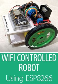 Make a simple Robot using as the brain. This robot can be remotely controlled using Android Remote LITE app or using a web browser. Esp8266 Arduino, Arduino Bluetooth, Arduino Wifi, Arduino Programming, Useful Arduino Projects, Iot Projects, Electronic Circuit Design, Electronic Engineering, Diy Electronics