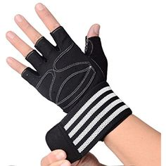 "Padded Anti-Slip Weight Lifting Gloves with Unique 21"" Elastic Wrist Wrap,Breathable Grip Gym Gloves,Perfect for Workout,Fitness,Bodybuilding and Exercise,Men #ExerciseFitness"