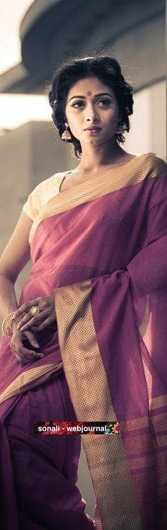Handwoven Tussar saree - photography by Somnath Roy http://www.somnathroy.in