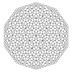 Examples of tilings constructed as projections of D-dimensional simple cubic lattices (for D = 3, 5, and 7) into d = 2-dimensional physical space.