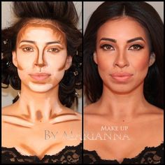Contouring-without the chest neck though. Would make for a mess on clothes.