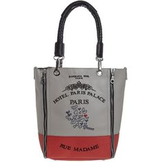 Barbara Rihl HOTEL PARIS PALACE Tote bag ($390) ❤ liked on Polyvore