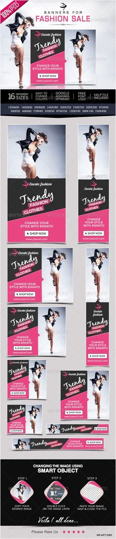 Fashion & Clothing Web Banners PSD Template - Download Here : http://graphicriver.net/item/fashion-clothing-banners/8488243?s_rank=22&ref=yinkira