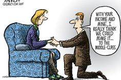 Monitor Political Cartoons: Income inequality, middle class, economics