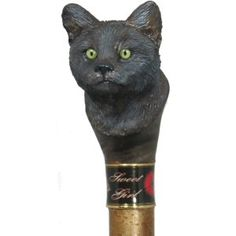 Hand carved Cat and Horse head walking stick, walking cane and hiking sticks in your favorite pets designs by Ivan Wilson of Wilson Staffs