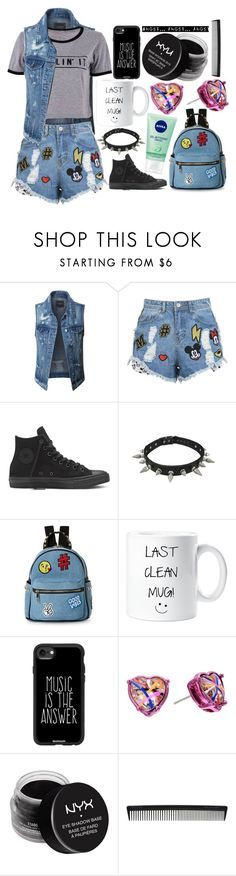 """Teenager"" by lottie2004 ❤ liked on Polyvore featuring LE3NO, Disney Stars Studios, IMoshion, Casetify, Betsey Johnson, NYX, T3 and teen"