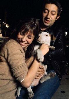 Jane Birkin, Serge Gainsbourg and Nana. Love these three. So much love and passion.