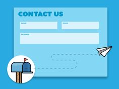 Contact Us designed by Gary Wilkerson. Connect with them on Dribbble;