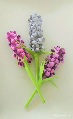 Easy DIY Curled Hyacinth Paper Flowers with Video Tutorial