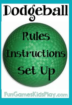 Dodgeball game rules and instructions. How to set up, score and play dodge ball. Fun group game that needs a ball, large game area and large group of kids. Fun Group Games, Pe Games, Fun Games For Kids, Relay Games, Physical Education Games, Physical Activities, Dodgeball Games, Dodgeball Quotes, Playground Games