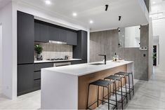 The Odyssey: 4 Bed, 2 Bath, Wide Display Home - National Homes Modern House Floor Plans, Contemporary House Plans, Modern House Design, Two Storey House Plans, 2 Storey House Design, Family House Plans, Storey Homes, Kitchen Dinning, Display Homes