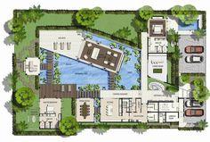 World's Nicest Resort Floor Plans | Saisawan - Beach Villas Type 2 Ground Floor Plan