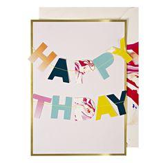 Happy Birthday Garland Card