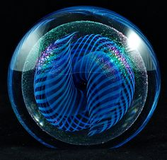 Vintage Robert Eickholt Art Glass Paperweight.  I have this, and it's even more beautiful in person.