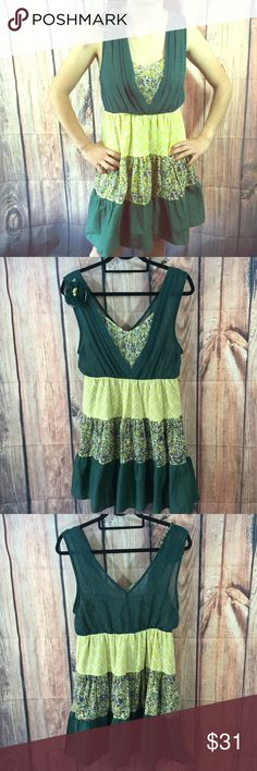 LuLumari Anthropologie boho Summer top dress Super cute. Partly hand crafted. Summer to or Sun dress. Beautiful colors. Sleeveless. New! Anthropologie Dresses Mini