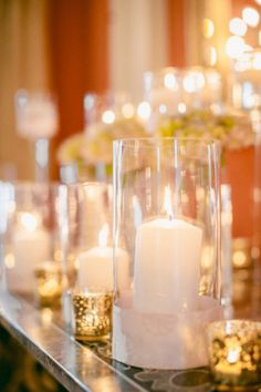 Mercury Glass and Candles Wedding Decor | photography by http://kellysauer.com/