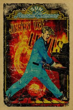 on cover weight kraft paper A tribute the one and only Jerry Lee Lewis. Jerry Lee is an American rock and roll and country music Jerry Lee Lewis, Rock Music History, Music Rock, Music Artwork, Art Music, Music Paper, Vintage Concert Posters, Vintage Posters, Norman Rockwell
