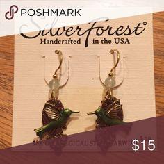 Silver Forest bird earrings Silver Forest Bird earrings, 18k on surgical steel wire. Silver forest Jewelry Earrings