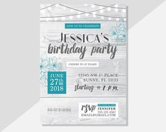 Host an awesome birthday party with these PRINTABLE invitations! With a rustic modern charm, these digital/printable designs are super adorable and made to order! Yup – Invitations will be personalized for you, and can be adjusted to suit your particular event.