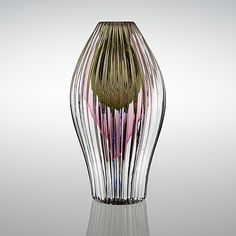 AIMO OKKOLIN - Glass sculpture for Riihimäen Lasi Oy, Finland. (h. 21 cm)