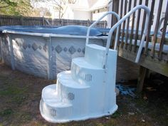 wedding cake style pool stairs pool steps pools and above ground pool on 25803