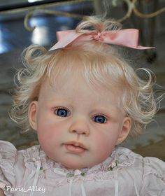 Sweet Toddler Reborn Louisa sculpted Jannie de Lange on eBay reborned by Crystal Nguyen ebay ID paris_alley