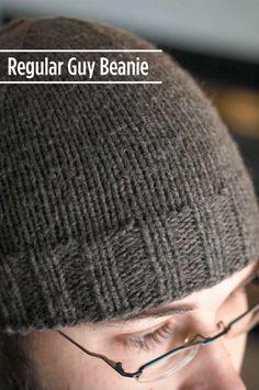 Regular Guy Beanie – Free Beanie Knitting Pattern – Excerpts From My Cranium Beanie Knitting Patterns Free, Beanie Pattern Free, Free Knitting, Hat Patterns, Loom Knitting, Knitting Machine, Vintage Knitting, Knitting Needles, Stitch Patterns